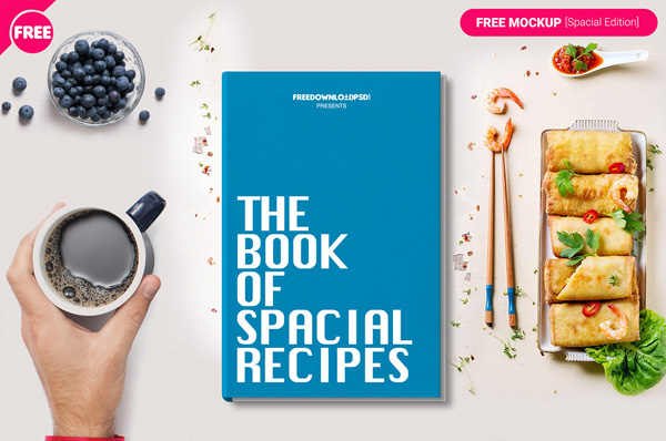 Cubierta de libro libre PSD Maqueta