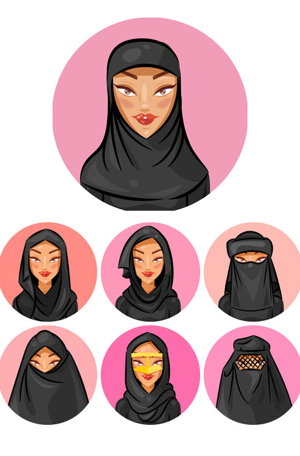 Cómo crear un conjunto de avatares de velo y Hijab en Adobe Illustrator