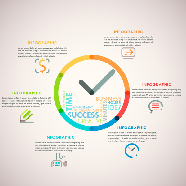 Cómo crear una línea de reloj Infographic en Adobe Illustrator