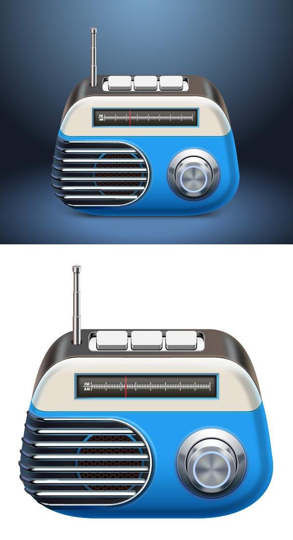 Aprenda a crear una radio vectorial en Adobe Illustrator