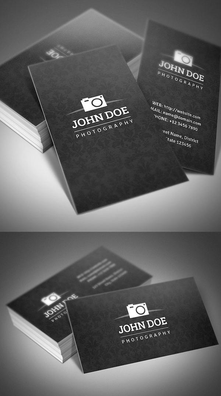 tarjeta de visita de la fotografa sencilla