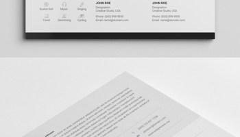 21 fresh free professional cv resume templates