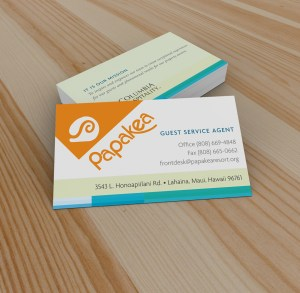 Branding - Business Cards Papakea Resort