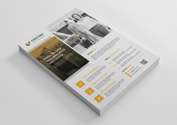 Minimal Corporate Flyer Designs