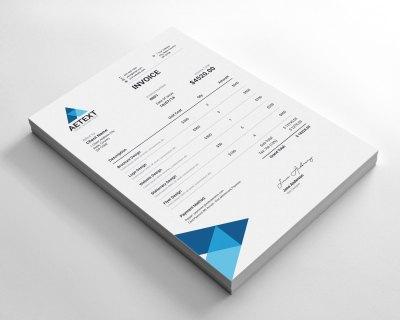 Modern Vector Invoice Template