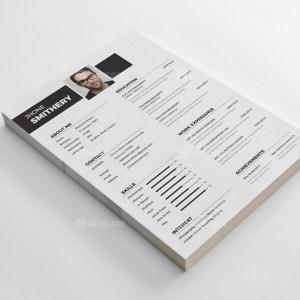 White Resume CV Template