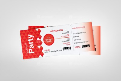 Excellent Event Ticket Template