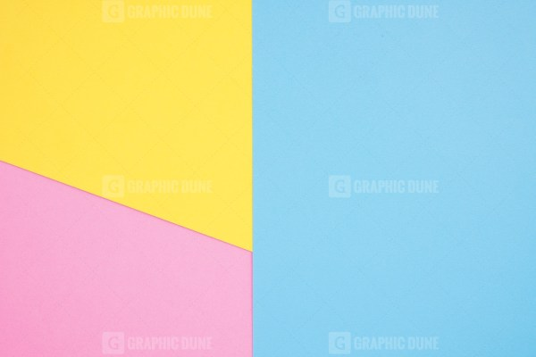 Yellow pink and blue geometric background