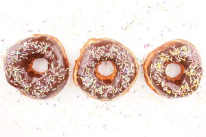 Tasty donuts isolated on white background