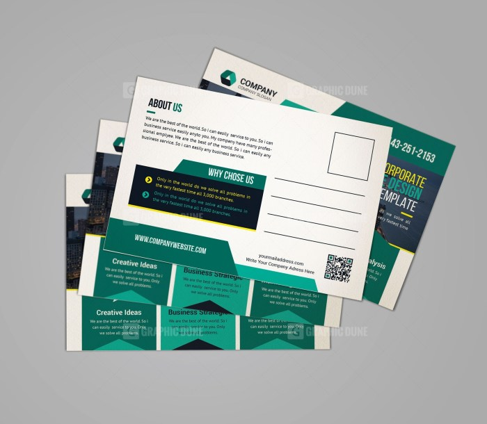 Print Ready Postcard Template