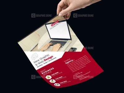 PSD Web Design Flyer Template