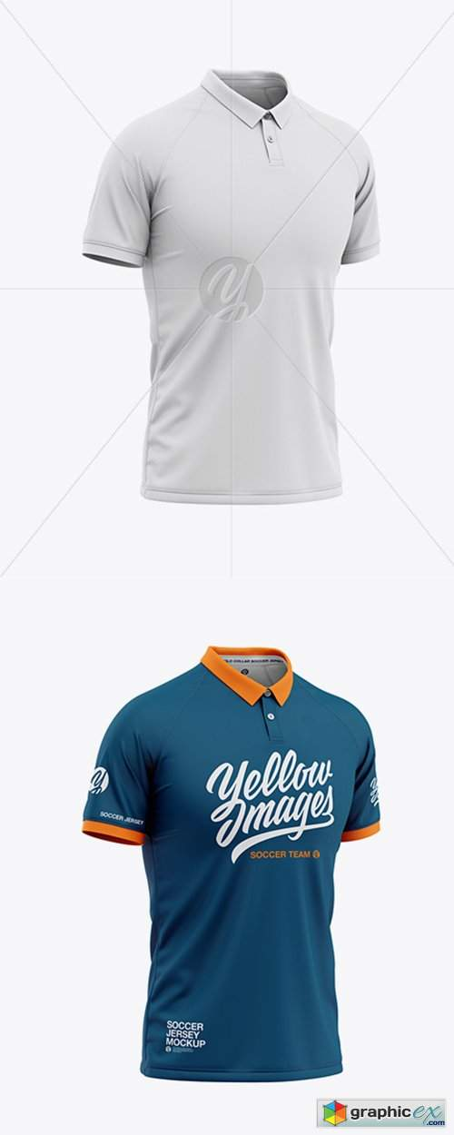 Download Men's Soccer Jersey Mockup - Front Half Side View » Free ...