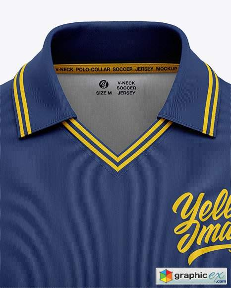Download Men's Soccer /Cricket Jersey Mockup - Front View » Free ...
