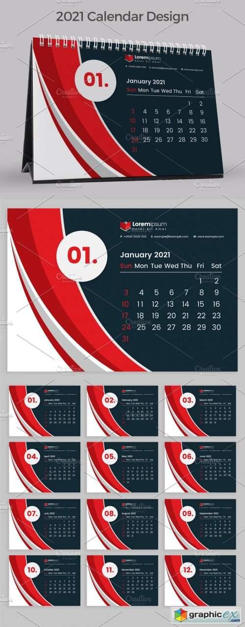 Download Red Calendar 2021 » Free Download Vector Stock Image ...