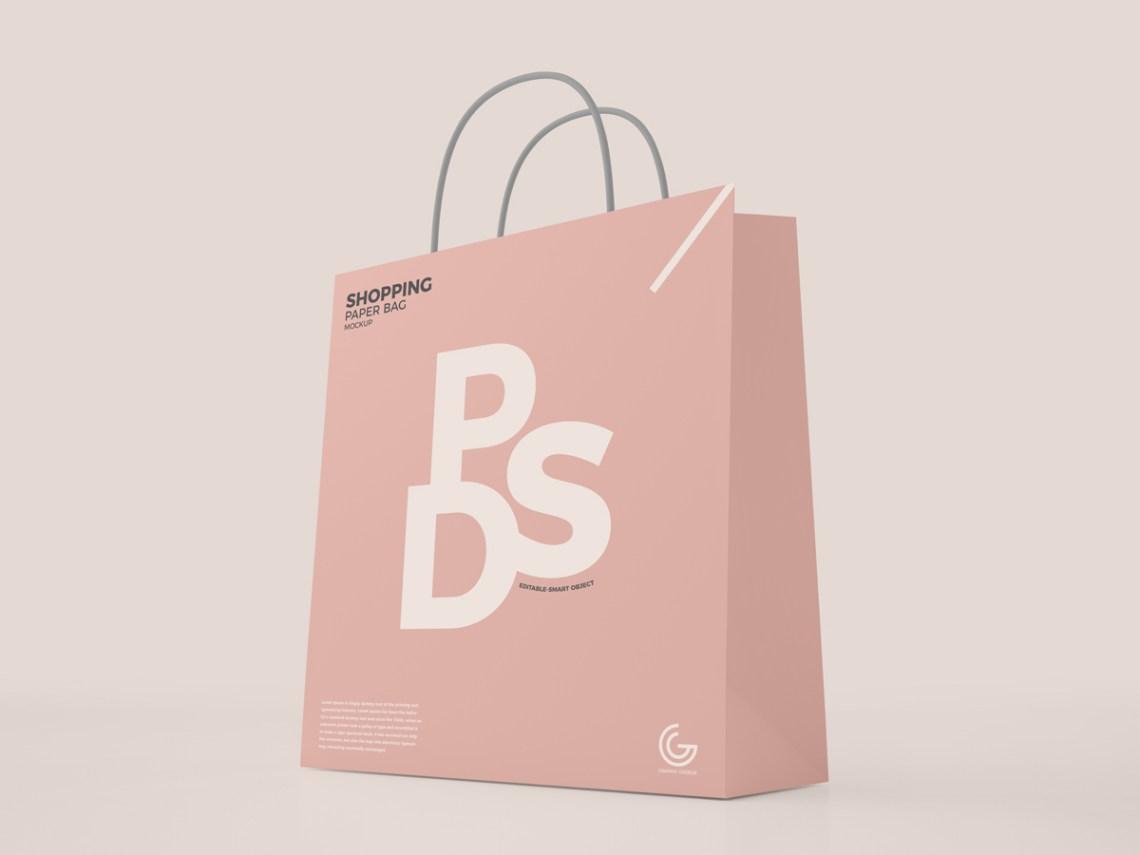 Download Free Modern Shopping Paper Bag Mockup PSD For Presentation ...