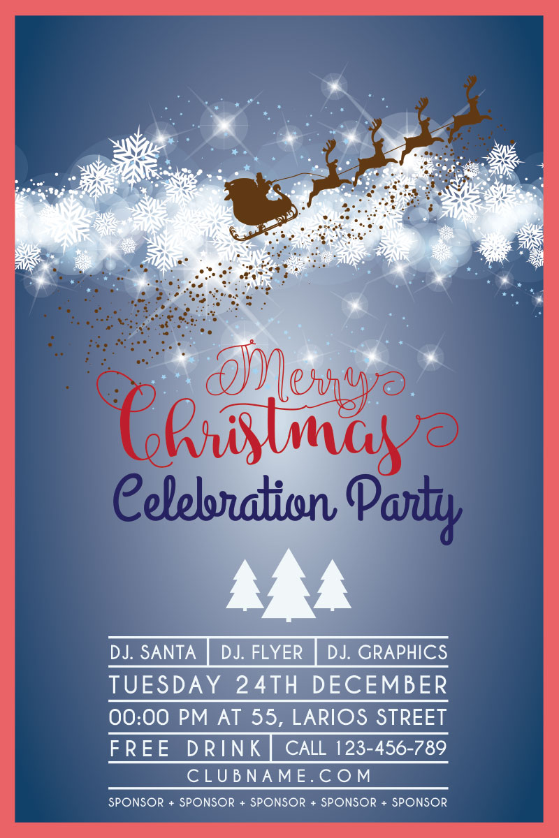 10 Christmas Party Flyers GraphicLoads