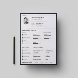 A4 Stylish Resume Design Template