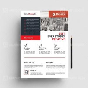 PSD Minimal Business Flyer Templates