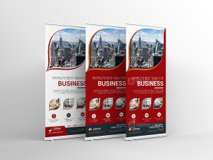 Vector Roll-Up Banner Design