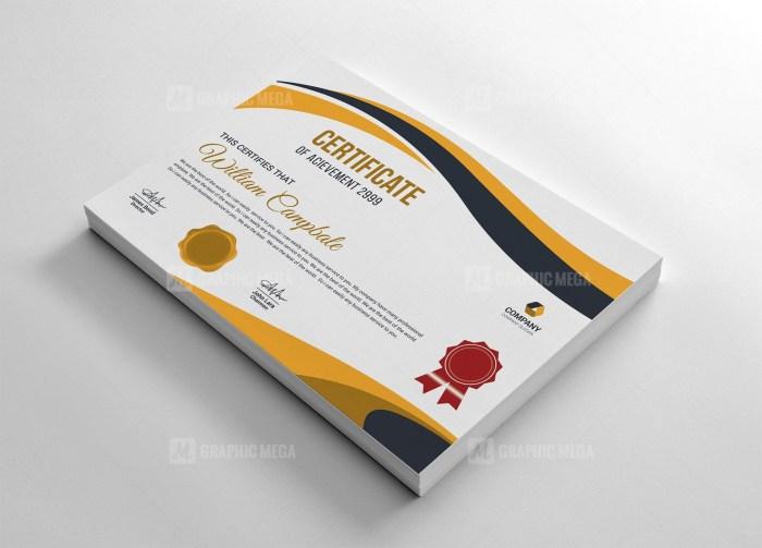 Stunning Certificate Template