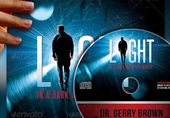 Light in the Dark Church Flyer and CD Label Template