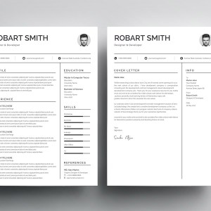 Profile Print Resume Template