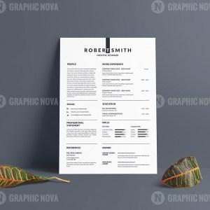 Sharp Vector Resume CV Design