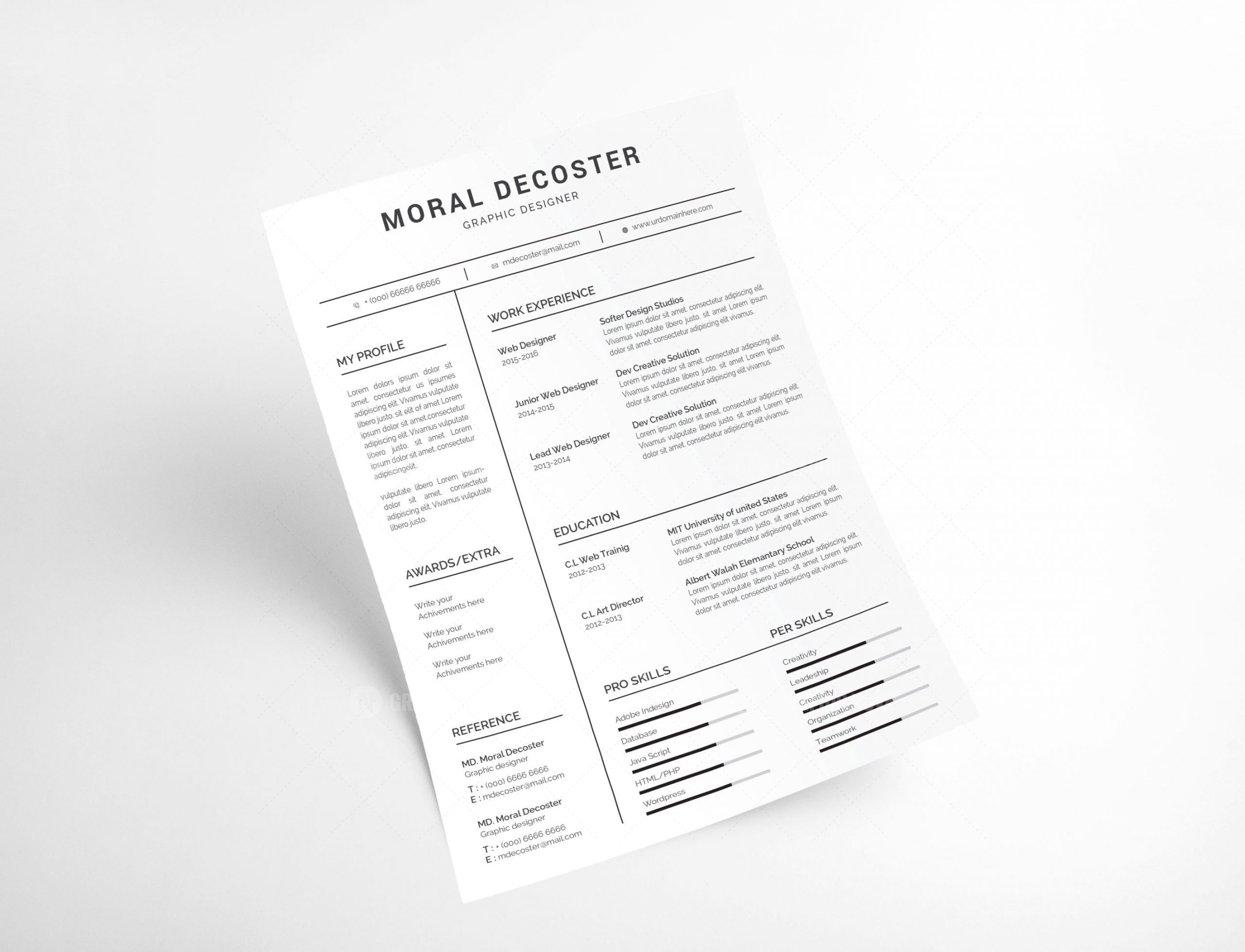 Clean Resume Template from i2.wp.com