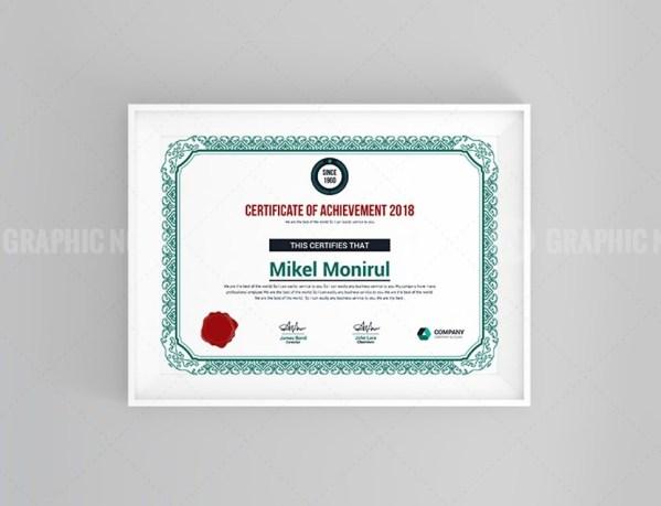 Achievement Certificate Template