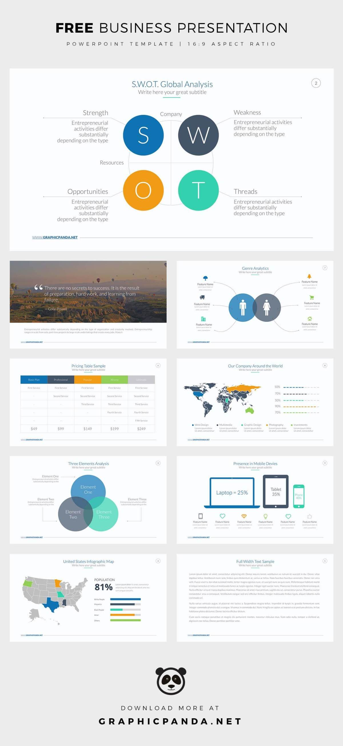 Free business powerpoint templates professional and easy to edit free business powerpoint template accmission