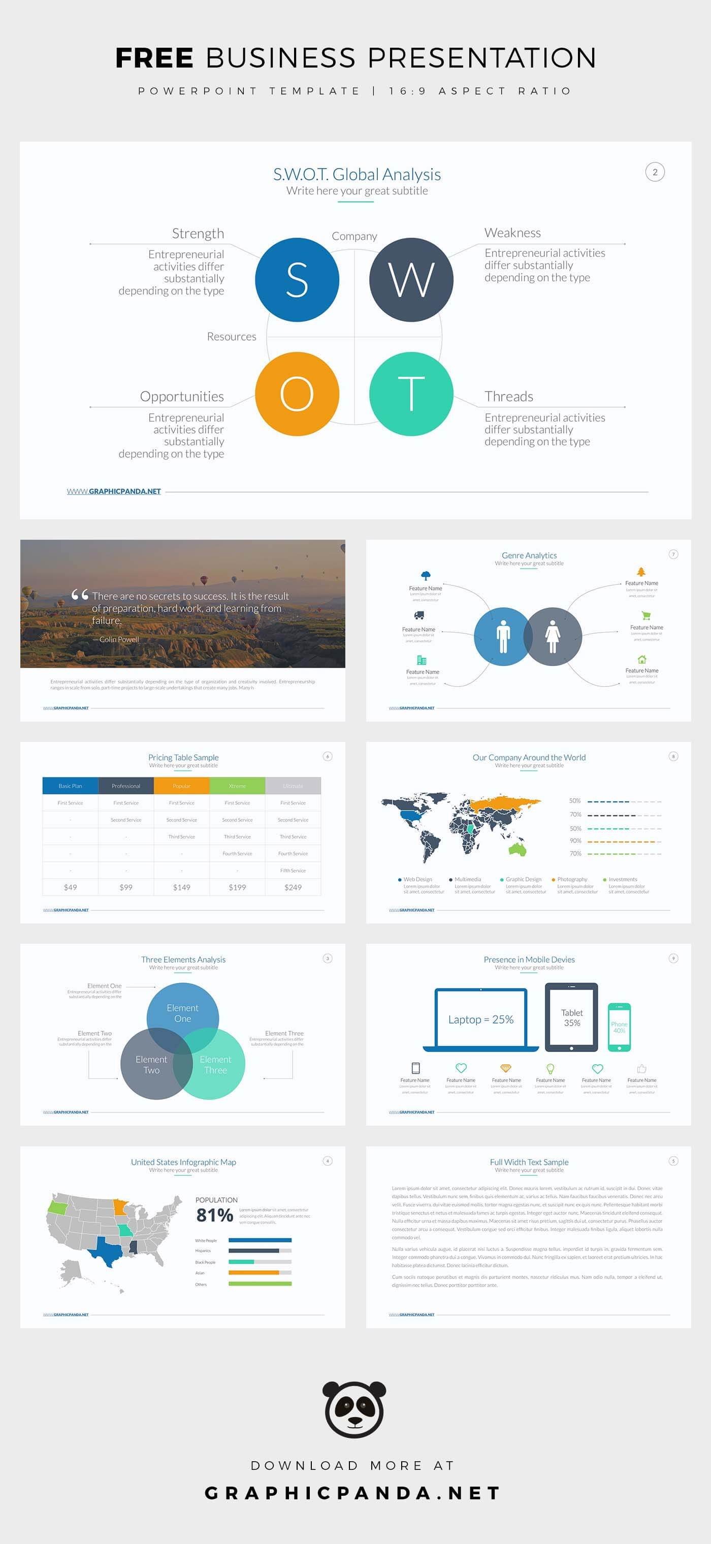 Free Business Powerpoint Template Best Free Powerpoint Templates