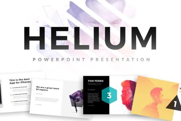 Helium Minimal PowerPoint Templates
