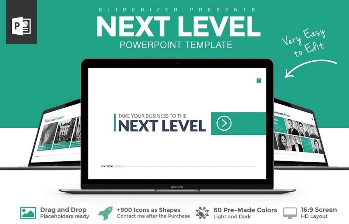 Next Level Powerpoint Template -min