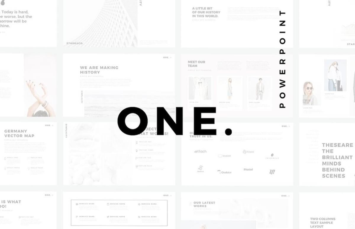 ONE. Minimal PowerPoint Template -min