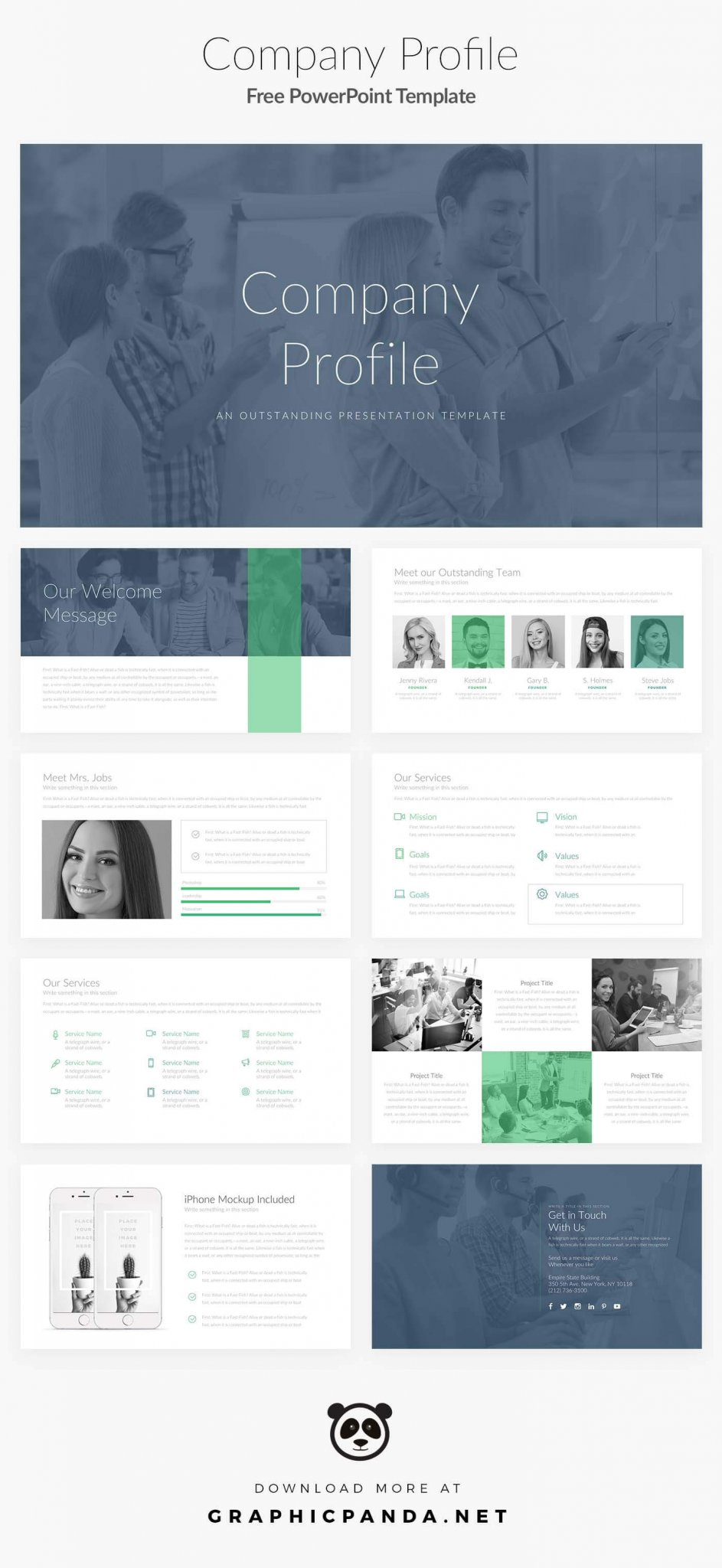 BEST FREE GOOGLE SLIDES THEMES - Free PowerPoint Template Company Profile - best free powerpoint template 2017