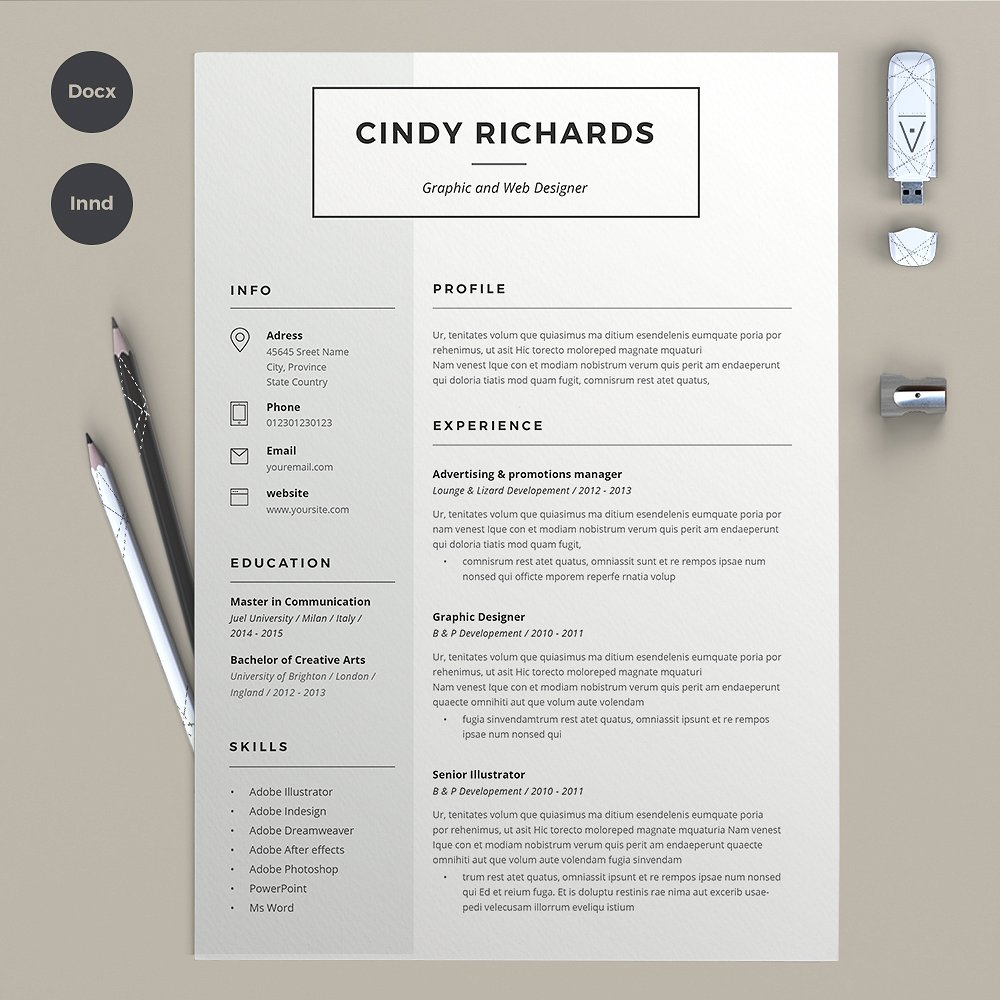 if you need to show your creative side this one is the perfect template for you therefore not only will it save you time but it will also demonstrate how - Resume Templates Indesign