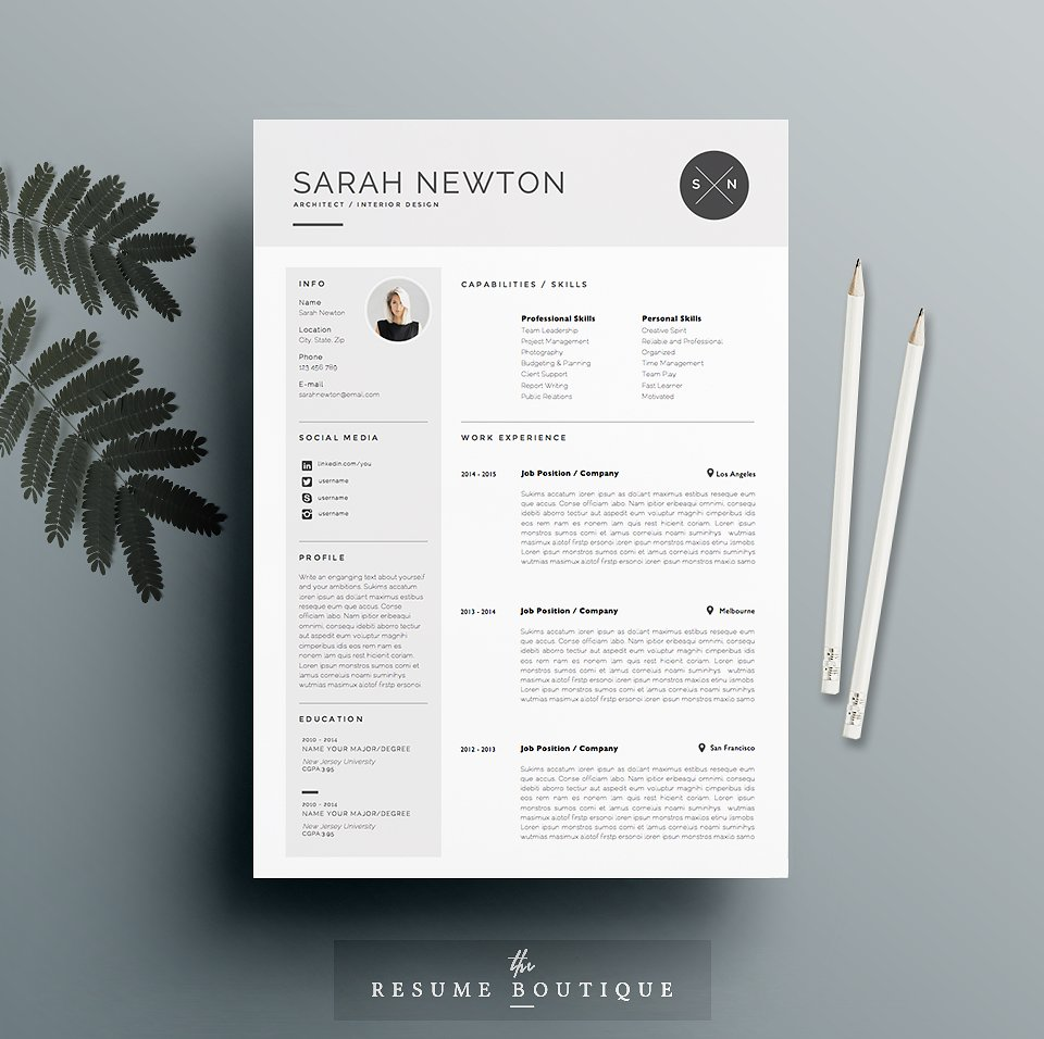 Like The Template Above, This One Is Specifically Great For People Who Want  To Present Every Piece Of Themselves To Show How Great You Are And Ensure  The ...  Resume Template Indesign