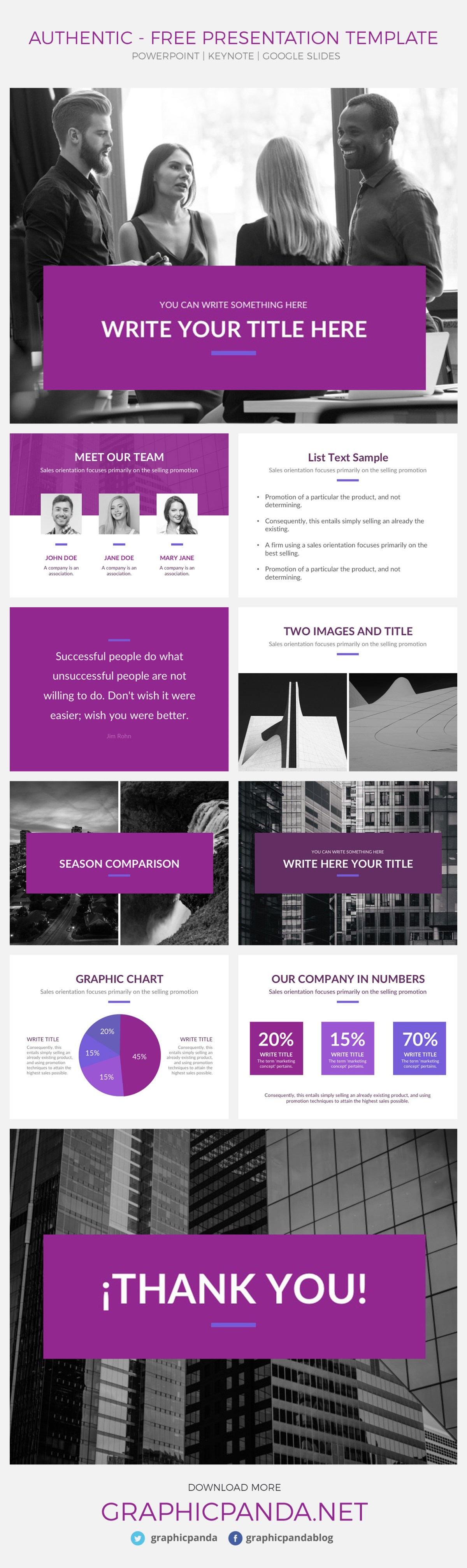 Authentic free presentation template powerpoint keynote google slides the authentic template not only saves you time but it also gives you new amazing toneelgroepblik Image collections