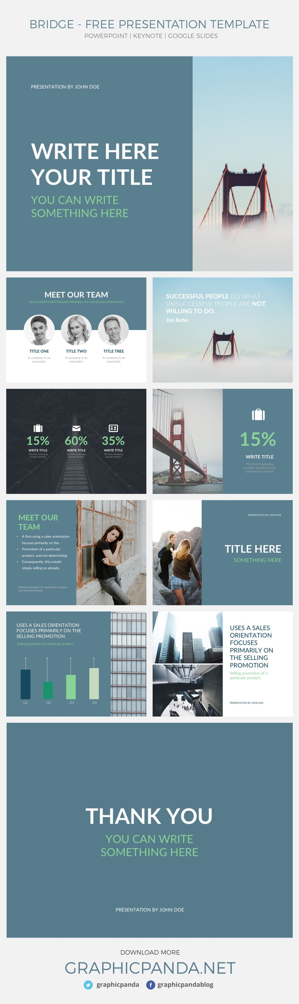 Bridge Presentation Template Powerpoint Keynote Google Slides