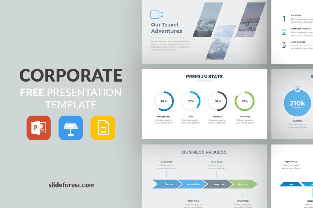 The Best Free Powerpoint Templates Of Updated - Best of company profile ppt scheme