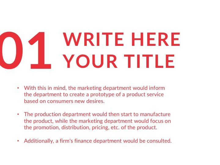Flat free presentation template