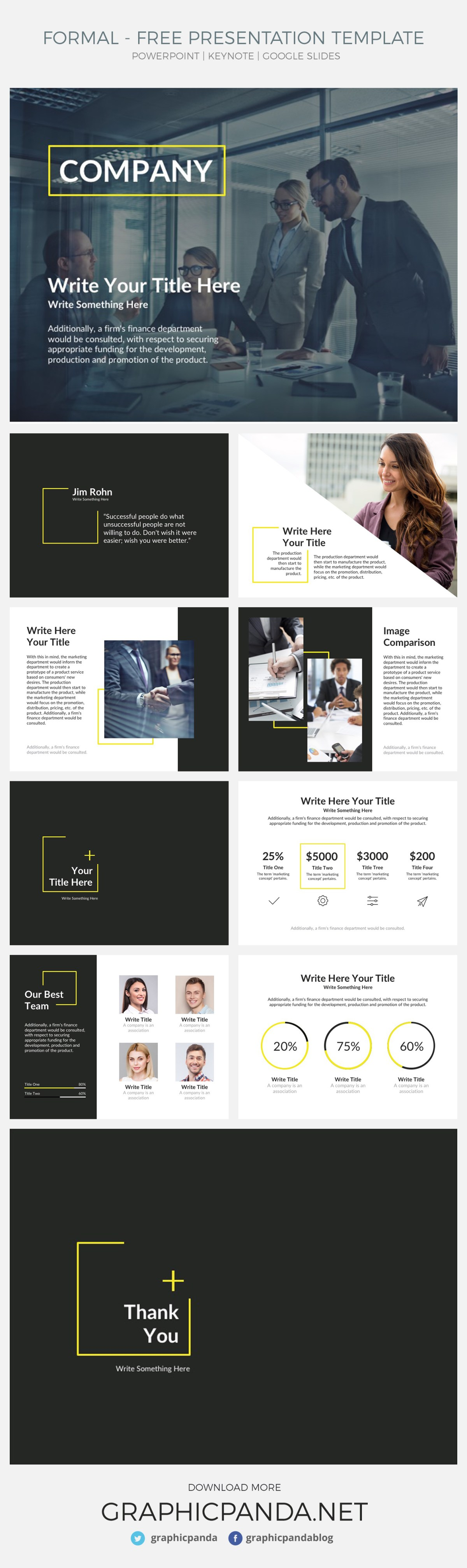 Looking for a way to make your presentations more interesting and eye-catching? It can be difficult to design your own professional slides, especially when trying to focus on important content. With these free powerpoint template, you can worry about what you're trying to say, and not about what your audience thinks of your color scheme or how you wished you would have spent more time on photo placement.