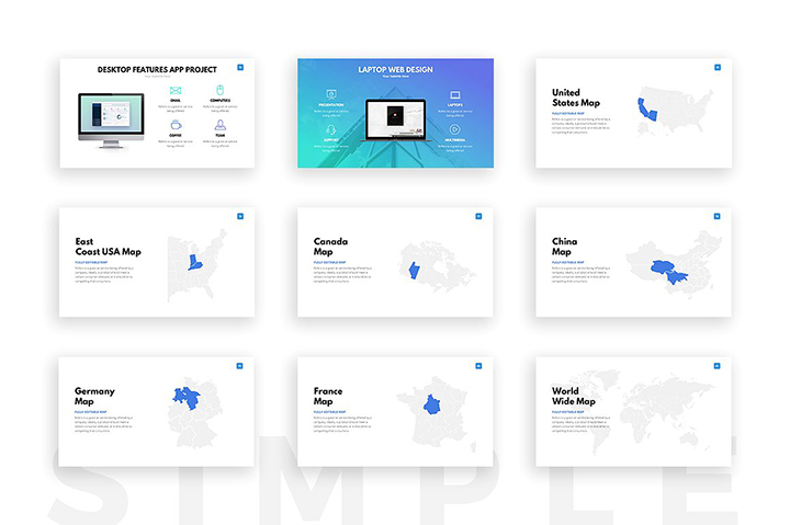 clean powerpoint template business pitch deck pptx