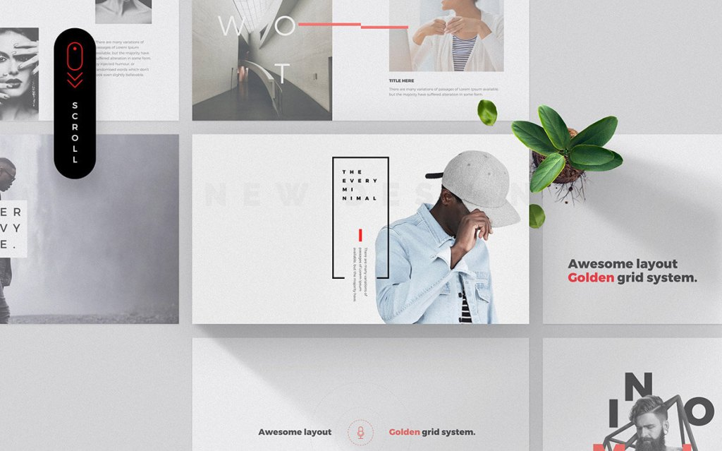 The 55 best free powerpoint templates of 2018 updated free minimalistic powerpoint template free powerpoint templates toneelgroepblik Gallery