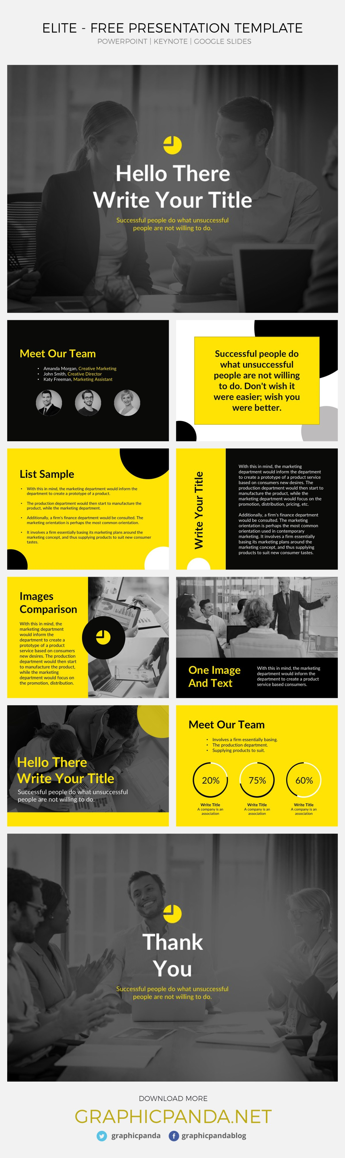 Whether you are a professional or beginner or whether you prefer to work on Microsoft PowerPoint, Apple Keynote or you prefer the security of the cloud-based service know as Google Slides, Elite Free Google slides template, powerpoint and keynote will help you to deliver an outstanding deck of business and professional ppt slides that will help you achieve the goal you are aiming for your company or small business or that class where you need to get an A.