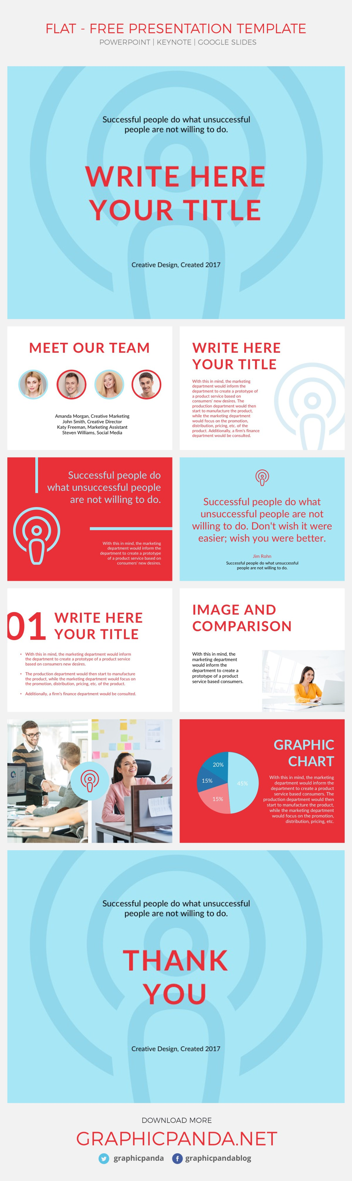 Top 60 best free keynote templates of 2018 present your ideas in a simple yet creative way with flat free presentation template this toneelgroepblik Choice Image