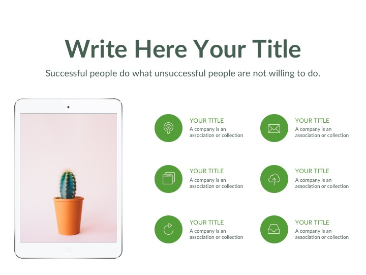 green free powerpoint keynote and google slides template
