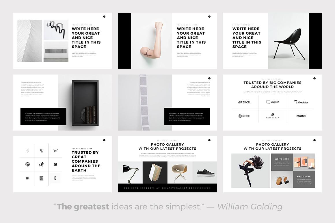 Best Minimalist PowerPoint Template — Best Minimalist Keynote Theme — Best Minimalist Google Slides Themes