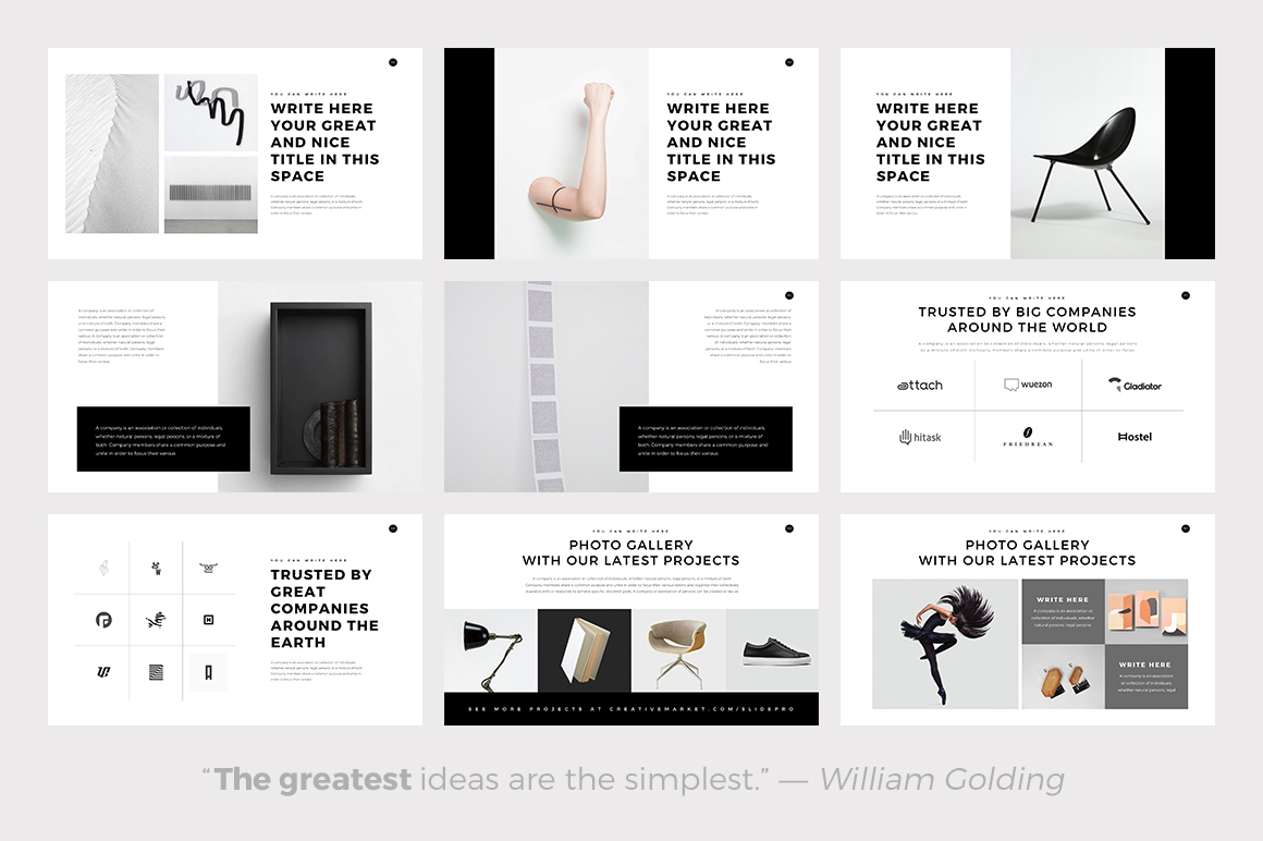 ghost minimal powerpoint template keynote and google slides theme