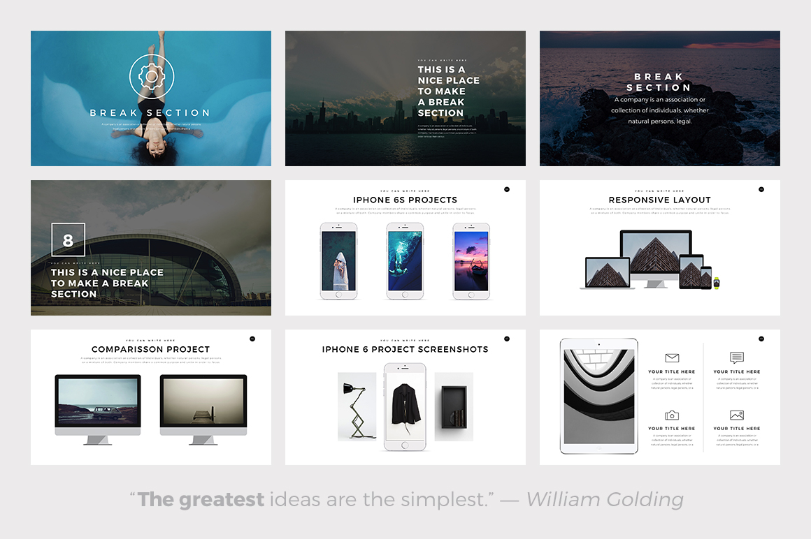 ghost minimal powerpoint template keynote and google slides theme, Powerpoint templates